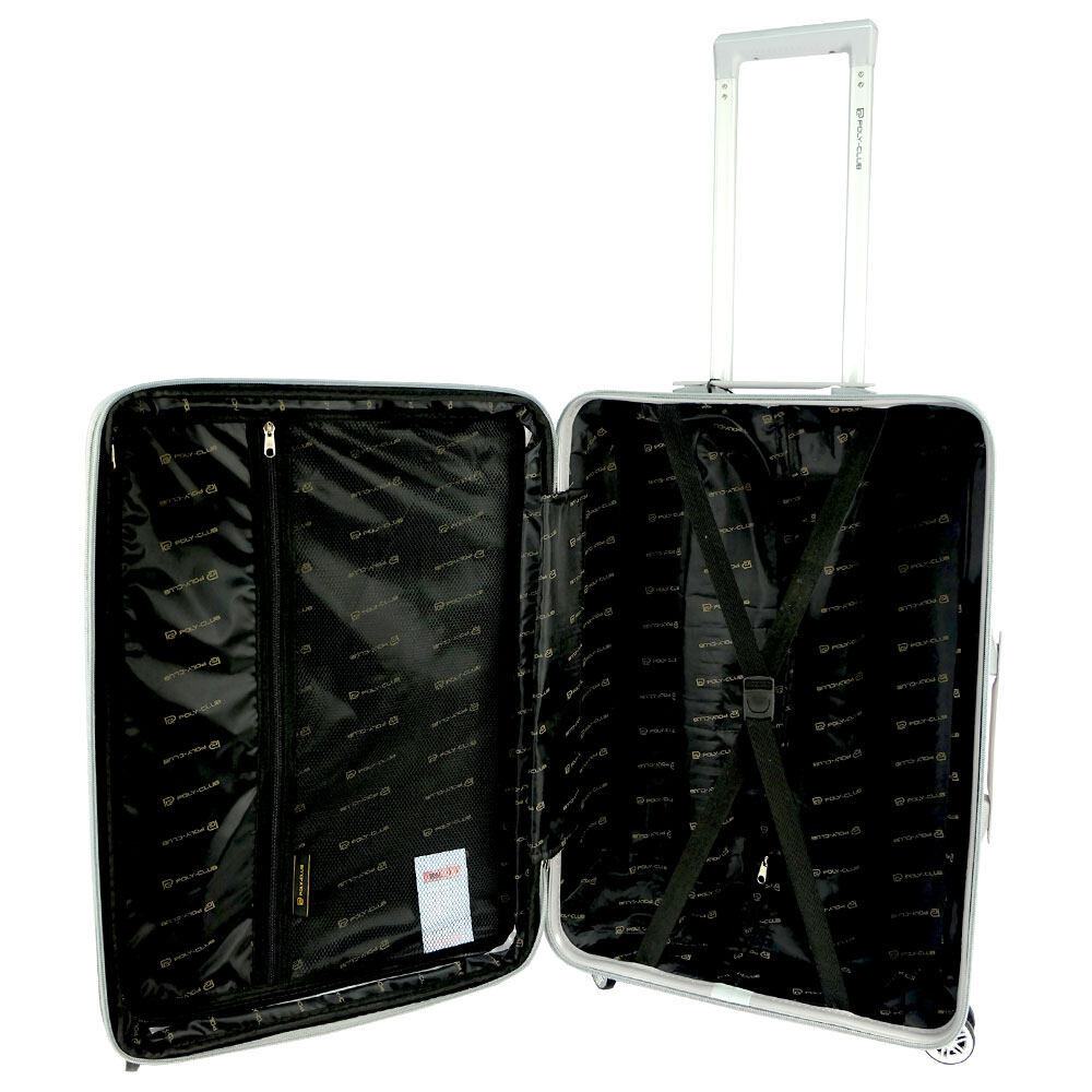 Poly-Club BA9902 4W 20inch Expendable ABS Hard Case Luggage with Anti-Theft Zipper