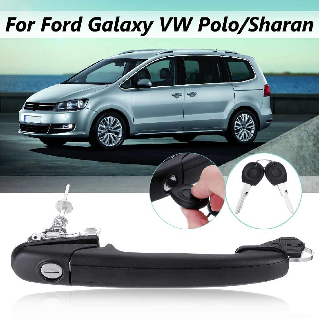 Automotive Tools & Equipment - Car Auto Door Handle Key Lock + Keys For Ford Galaxy VW Polo/Sharan Right Side - Car Replacement Parts
