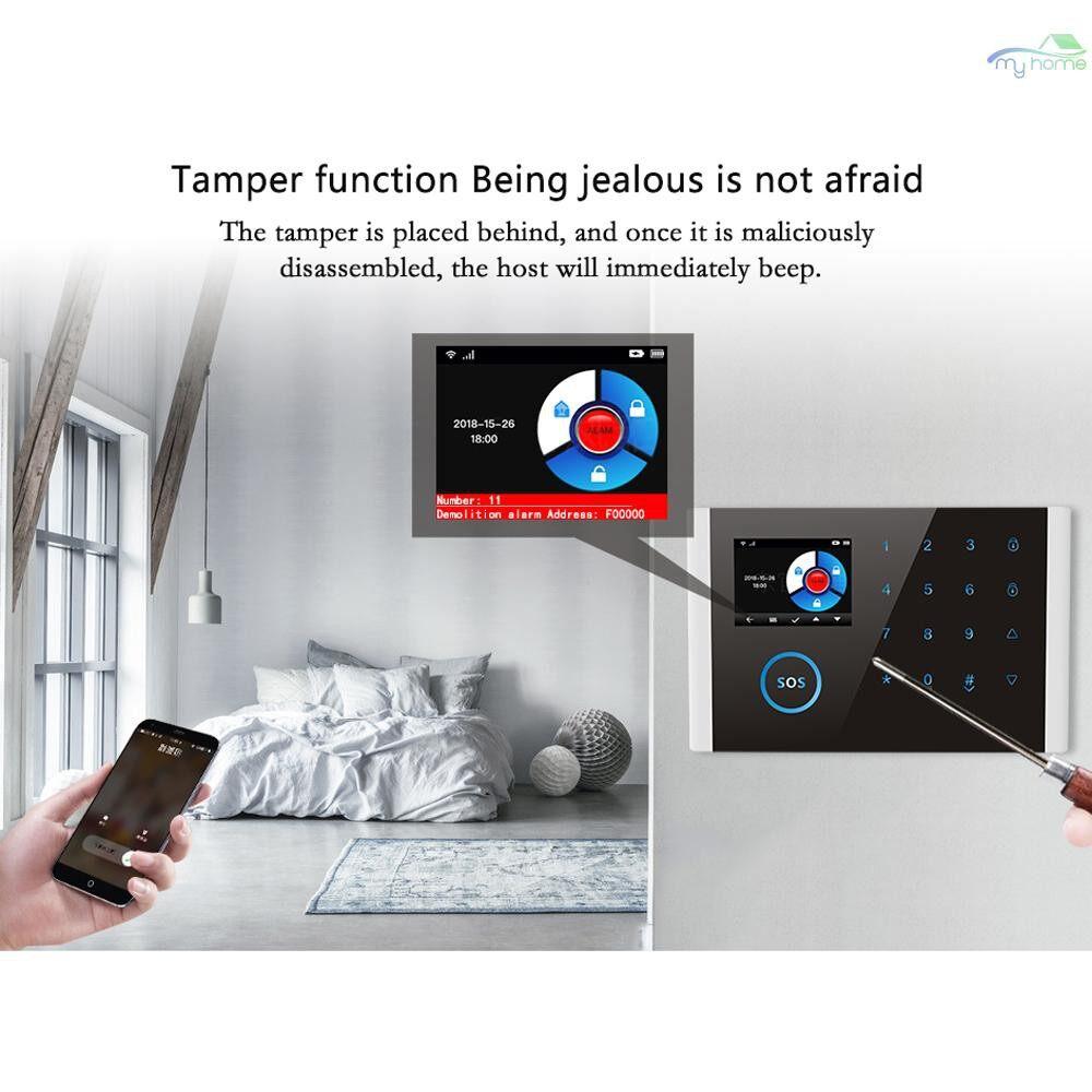 Sensors & Alarms - CS108 WiFi+GSM+GPRS 3 IN 1 Network Intelligent Voice Home Alarm System 433MHz Home Secure Door Bell - 3 / 2 / 1