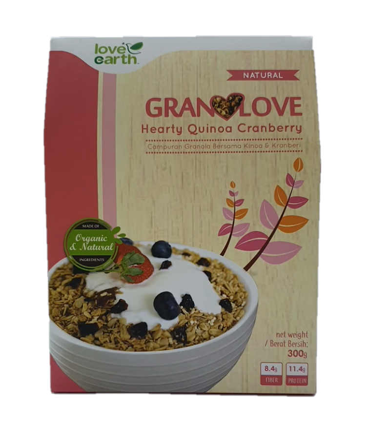 Love Earth Granolove Hearty Quinoa Cranberry 300G - Twin Pack