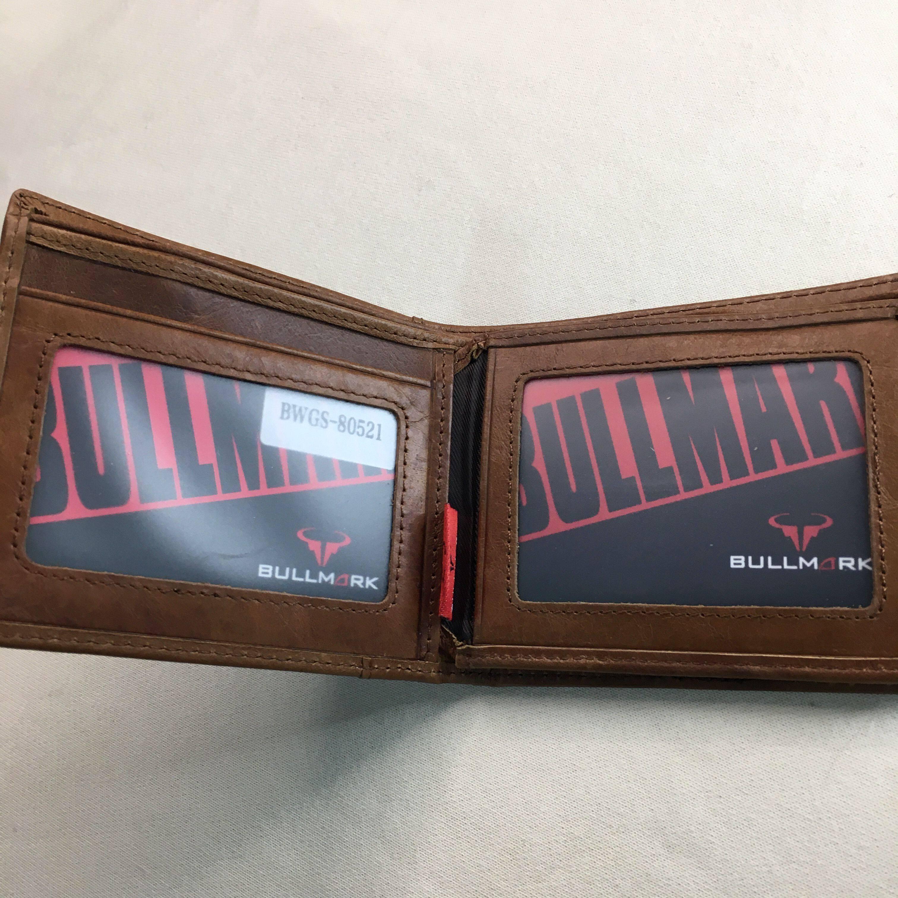BULL MARK Genuine Cow Leather Wallet BWDG BWGS80521 British brown short Bifold