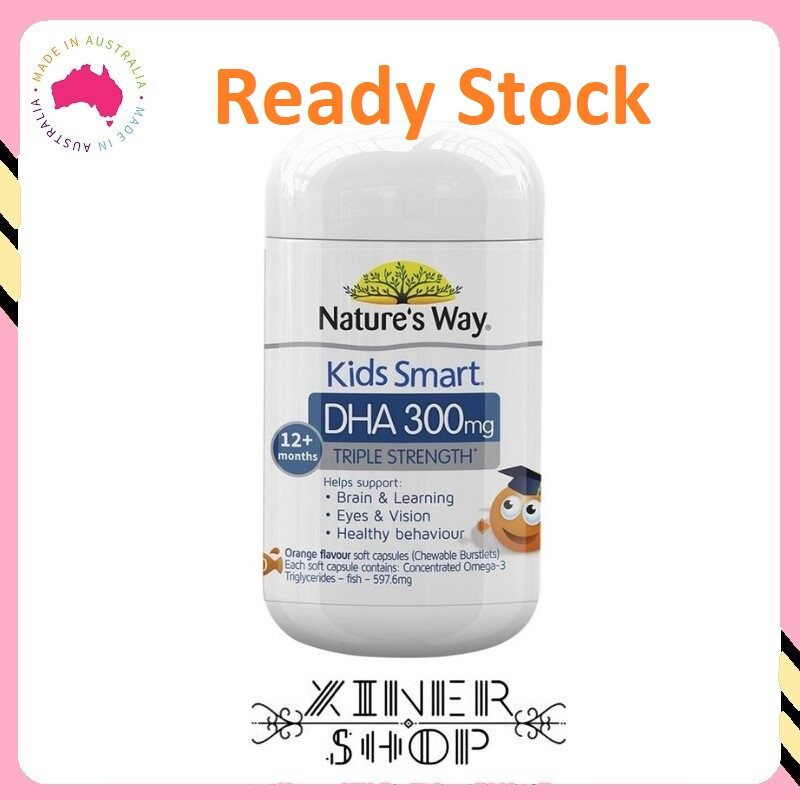 [Ready Stock EXP Date: 05/2023] Nature's Way Kids Smart DHA 300mg Triple Strength ( 50 Soft Capsules ) (Made In Australia)