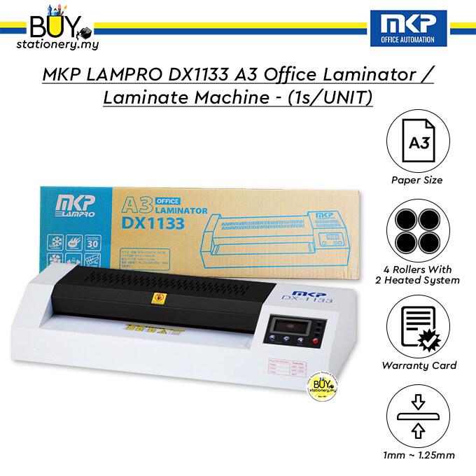 MKP LAMPRO DX1133 A3 Office Laminator / Laminate Machine with 12 Month Warranty - (1s/UNIT)