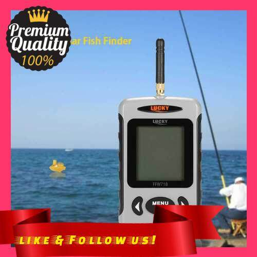 People\'s Choice Portable Professional Sounder Wireless Sonar Fish Finder Fishing Probe Detector Fishfinder with Dot Matrix