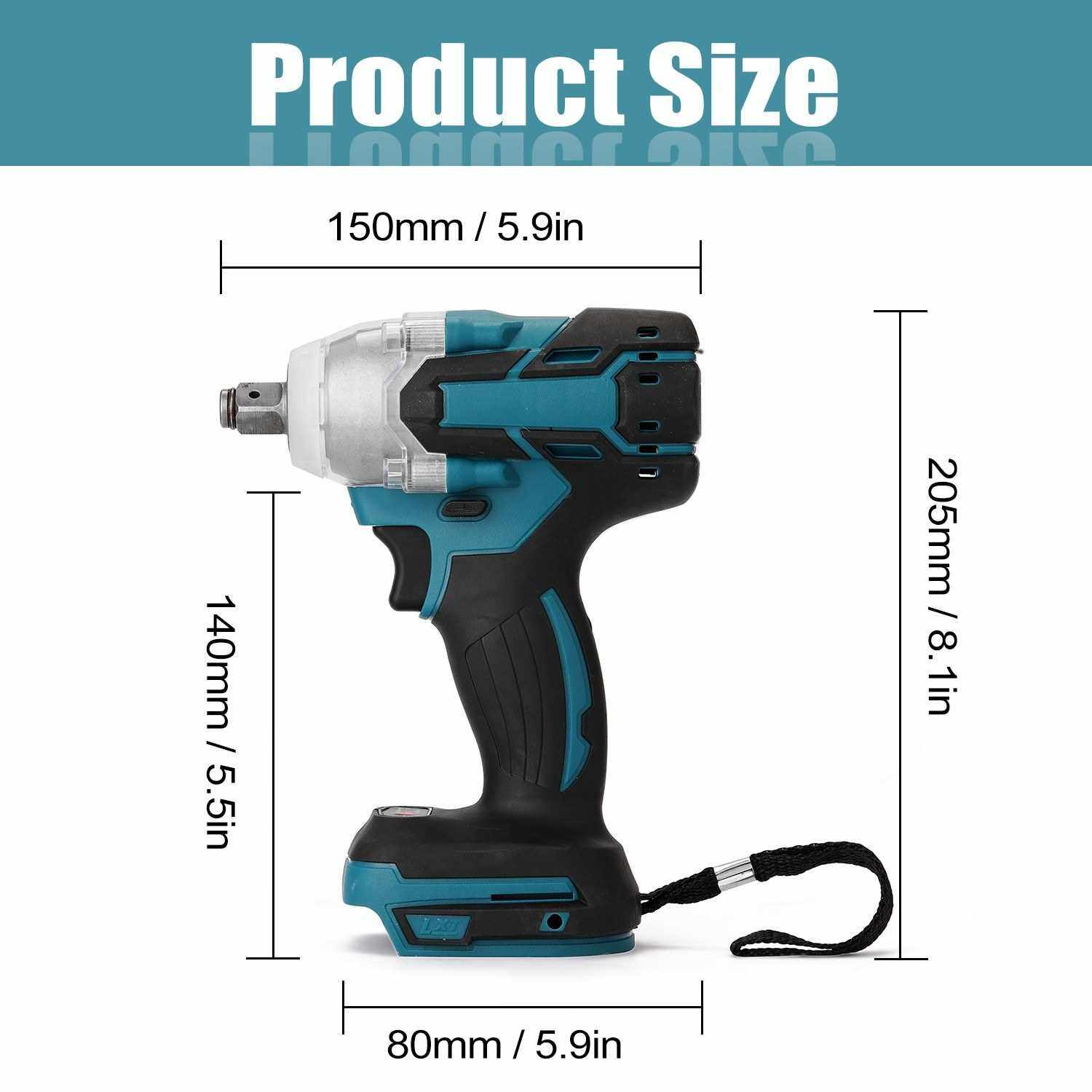 Electric Rechargeable Cordless Brushless Impact Screwdriver Multifunctional Wireless Electric Hand Screwdriver Home DIY Electric Power Tools (Standard)