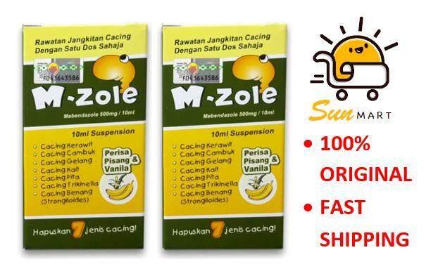 M-ZOLE SUSPUSPENSION Ubat Cacing Mebendazole 500mg 10ML X 2 bottles
