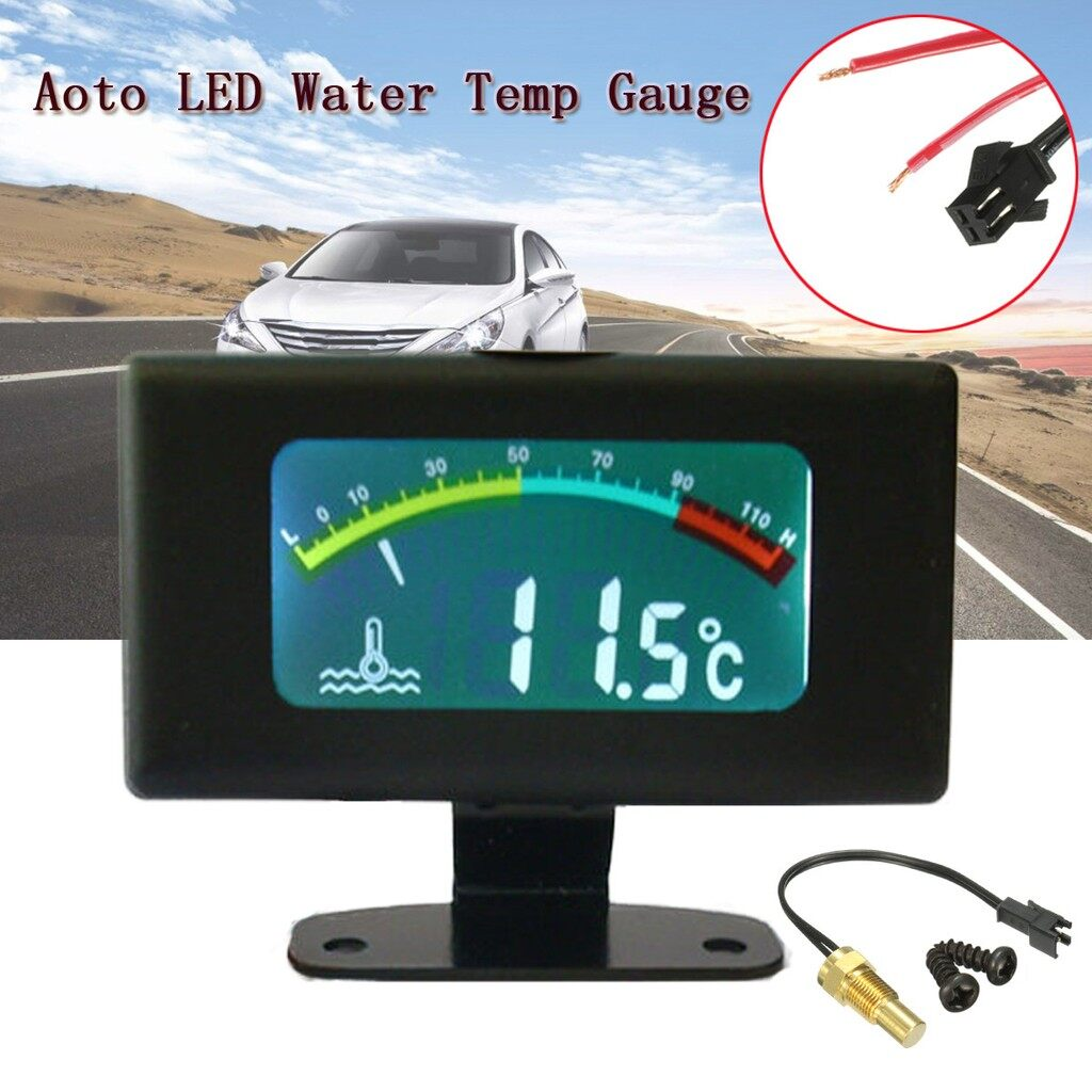 Tyres & Wheels - DC12V 24V 36V Digital Thermometer LED Water Temp Gauge Tank - Car Replacement Parts