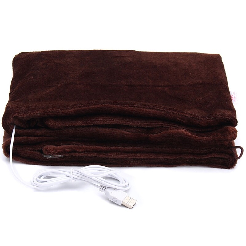 Air Conditioning & Coolers - USB Heated Shawl Winter Electric Warming Neck Shoulder Heating Blanket Pad - COFFEE / BLACK