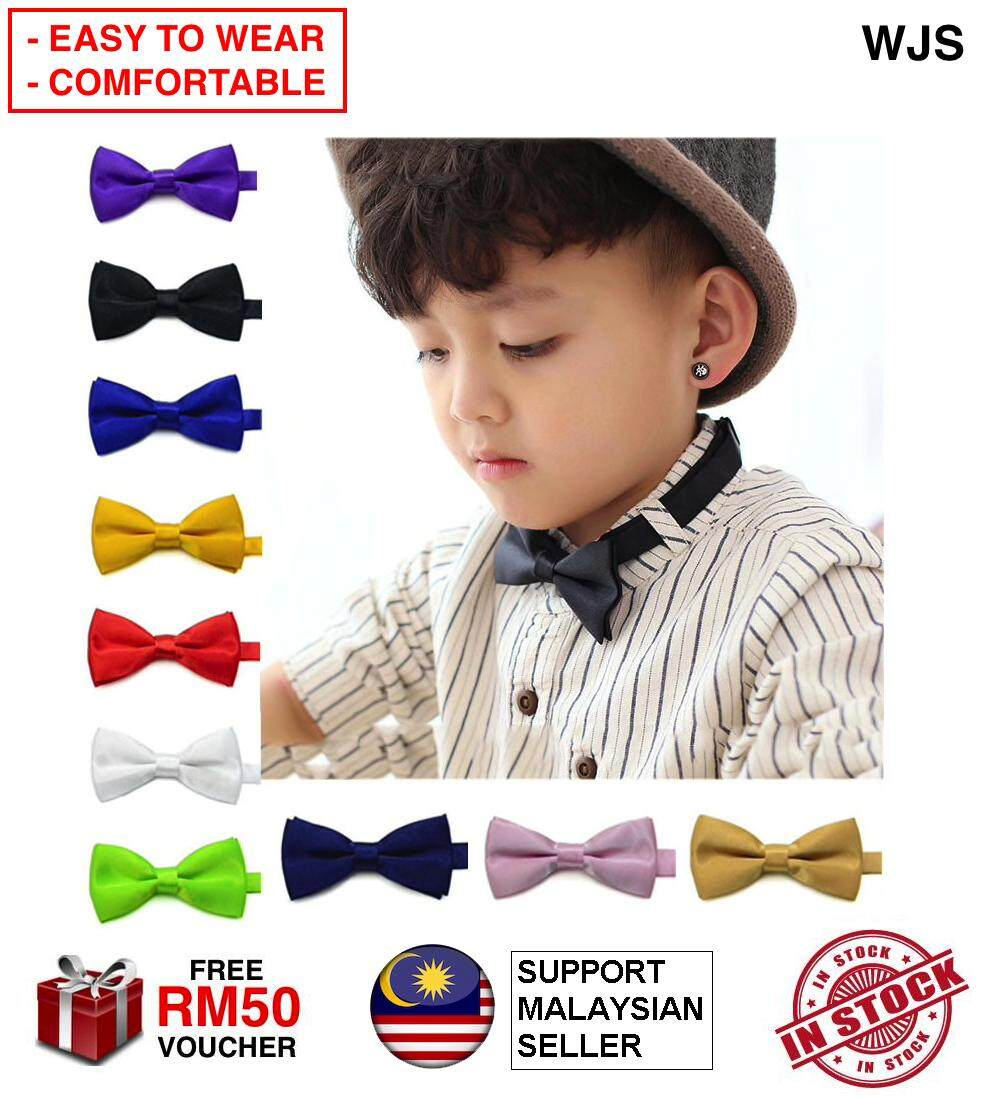 (EASY TO WEAR & COMFORTABLE) WJS Infant Baby Kid Children Boy Girl Child Children Adjustable Kids Bowtie Bow Tie Kids Necktie Neck Tie Formal Wear Tali Leher MULTICOLOR [FREE RM 50 VOUCHER]