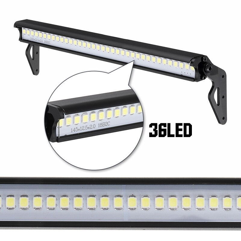 Car Lights - 1/10 Crawler Accessory Roof 36LED Lamp Bar For Wrangler TRX-4 SCX10 90046 - Replacement Parts