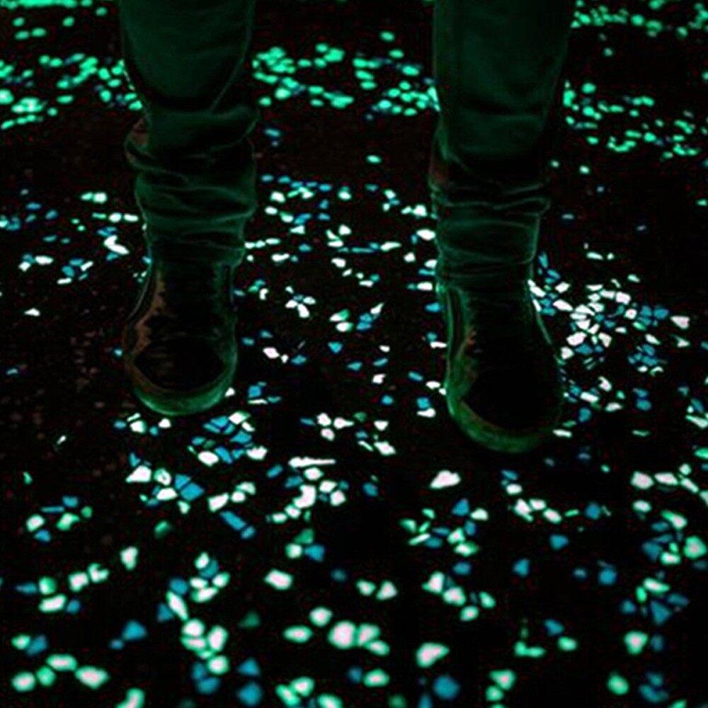 Outdoor & Garden - 50 PIECE(s) Glow in the Dark Garden Pebbles for Walkways Aquarium Decor Plants Luminou - PINK / YELLOW / GREEN / LIGHT BLUE / WHITE / MULTICOLOR