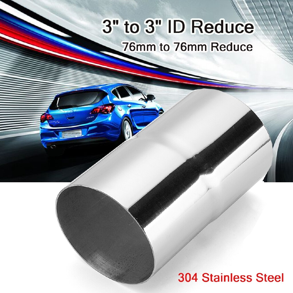 Exhaust - 3 ID to 3 ID Stainless Steel Universal Exhaust Pipe to Pipe Connector Reducer - Car Replacement Parts