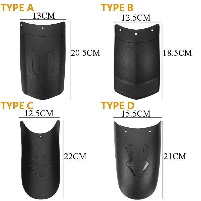 Moto Accessories - 1 PIECE(s) Motorcycle Front rear Wheel Cover for fender extension Extender - TYPE B / TYPE D / TYPE A / TYPE C