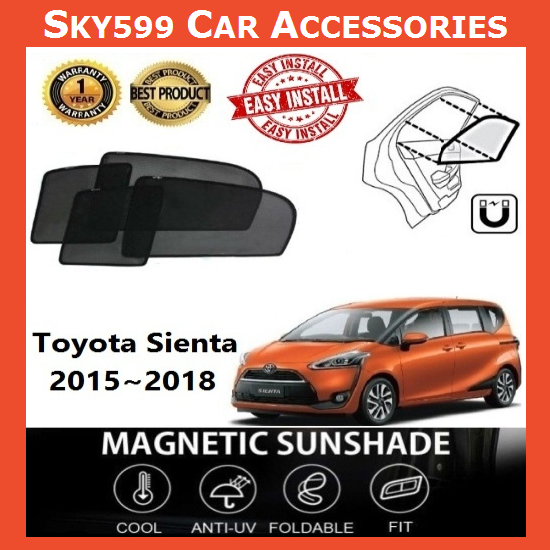 Toyota Sienta 2015-2020 Magnetic Sunshade 【6pcs】