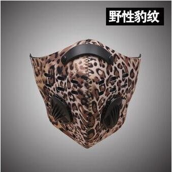 Riding Gear - Anti Fog Face Mask Filter Motorcycle Racing Bicycle Riding Anti-PM2.5 Dustproof Half - ORANGE / LEOPARD / ACU