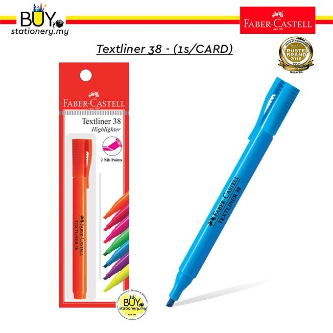 Faber Castell Textliner 38/ Highlighter 38 - (1s/Card)