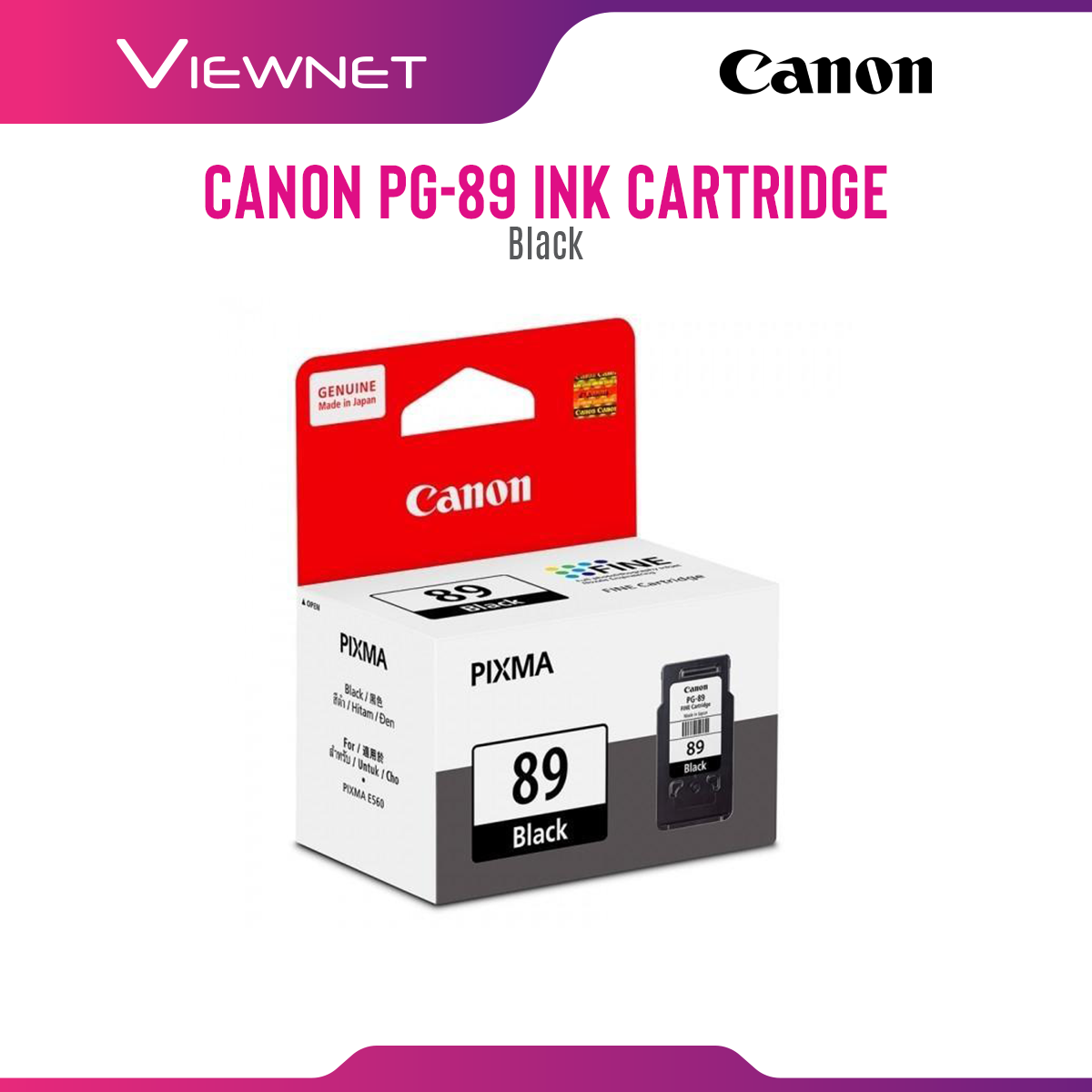 Canon PG-89 (Black), CL-99 (Color) Ink Cartridge for Printer Pixma E560