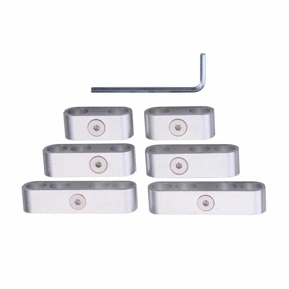 Best Selling 12 PCS SBC 350 Spark Plug Wire Separators Dividers Looms CNC Premium Quality Aluminum Alloy Suits 7mm 8mm 9.5mm (Silver)