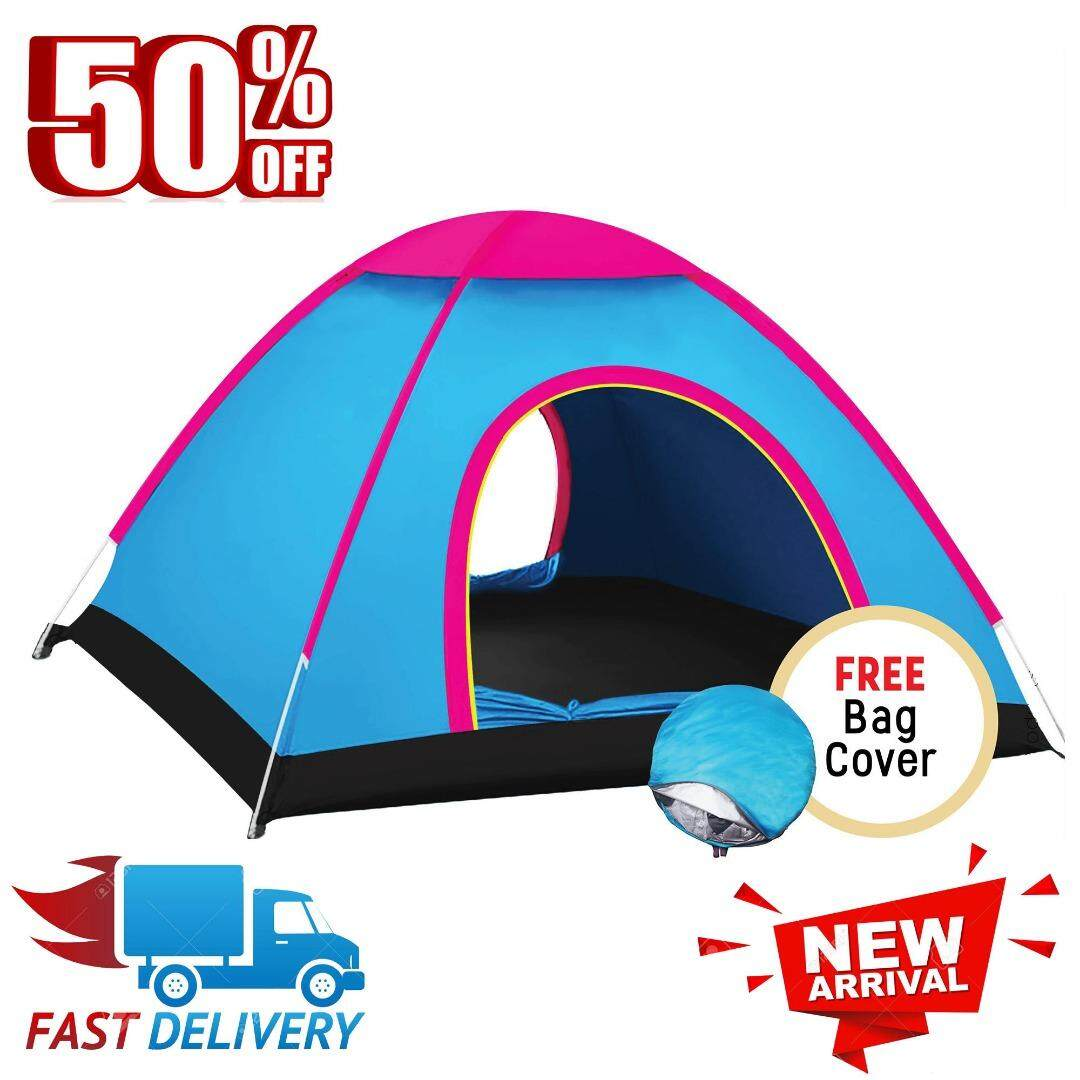 Waterproof 2 Person Large Automatic Instant 2 Second Rapid Open Camping and Outdoor Tent