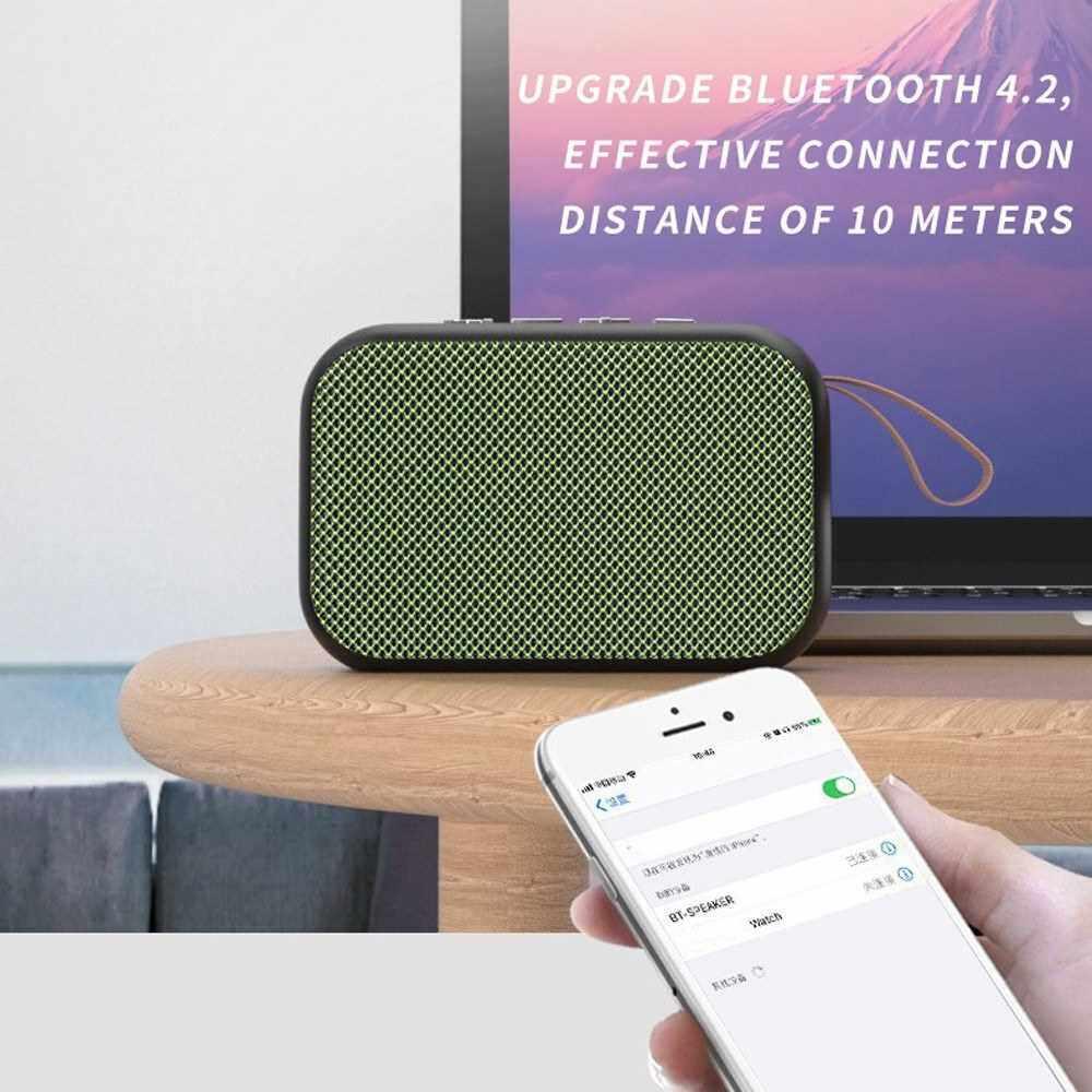 Portable Cloth Fabric BT Speaker Outdoor Mini Wireless Bass Subwoofer Multifunctional Sound Box Loudspeakers (Black)