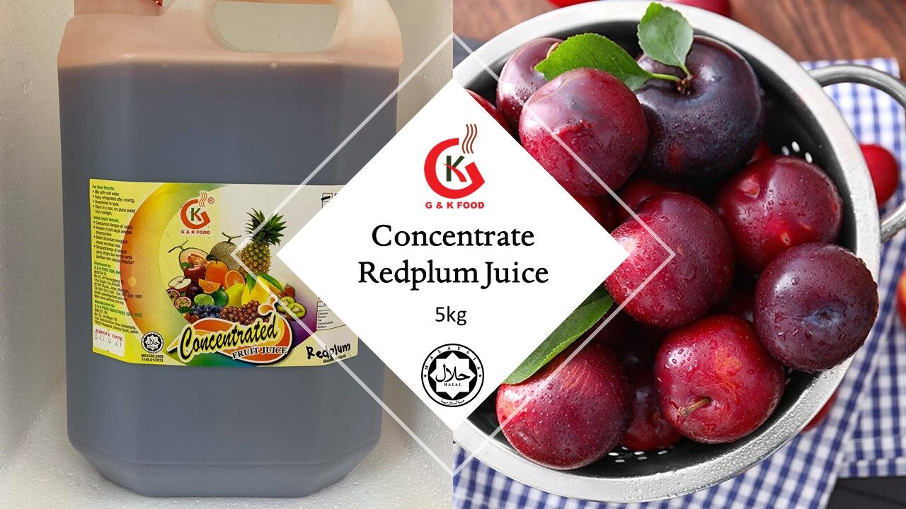 [100% JAKIM HALAL] 5kg Concentrate Red plum Juice/ Ice Blended Red Plum Juice/ Stock Cukup!!!