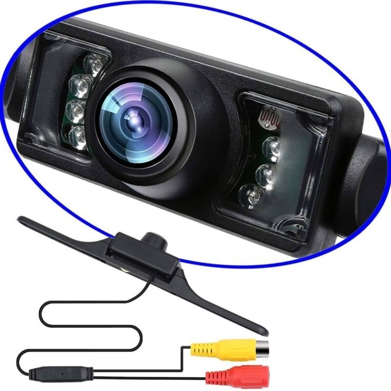 Waterproof License Plate Mount Reverse Rear Night View 7LED Car Backup Camera