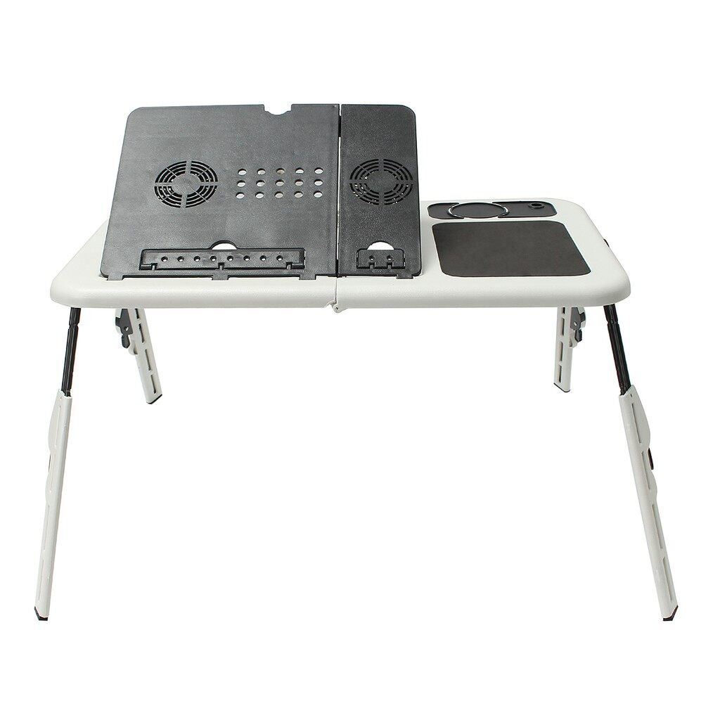 USB Fan - PORTABLE Laptop Foldable Stand Bed Sofa Notebook Table Desk With two USB fan - Cool Gadgets