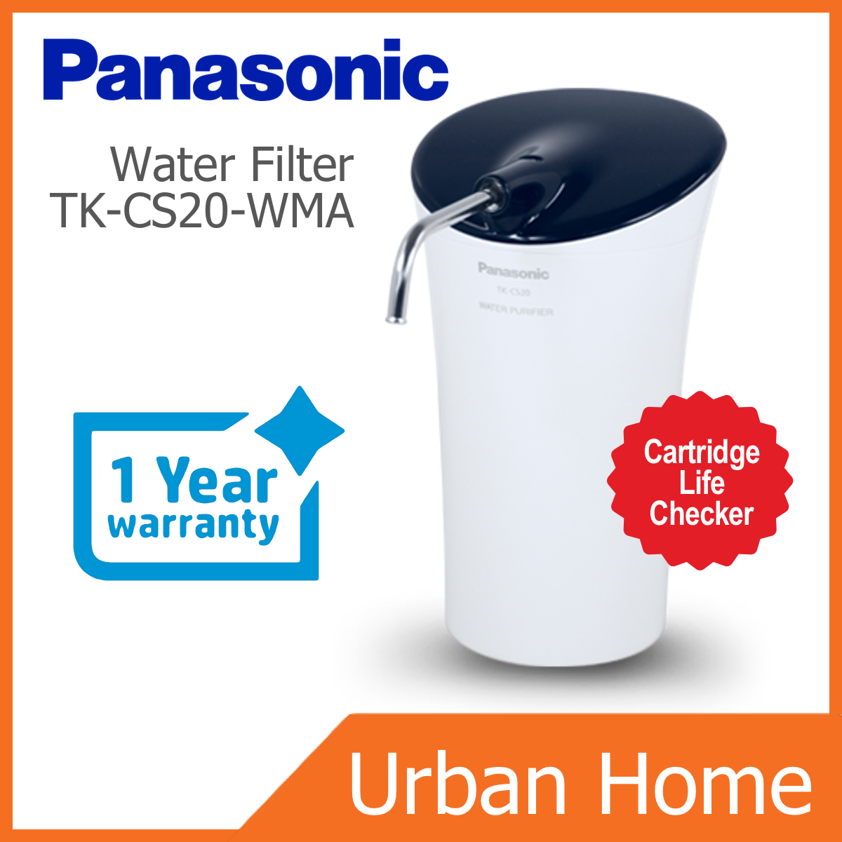 PANASONIC Standard Water Purifier Filter with Cartridge Life Checker (TK-CS20-WMA/TK-CS20/TKCS20WMA/TKCS20)