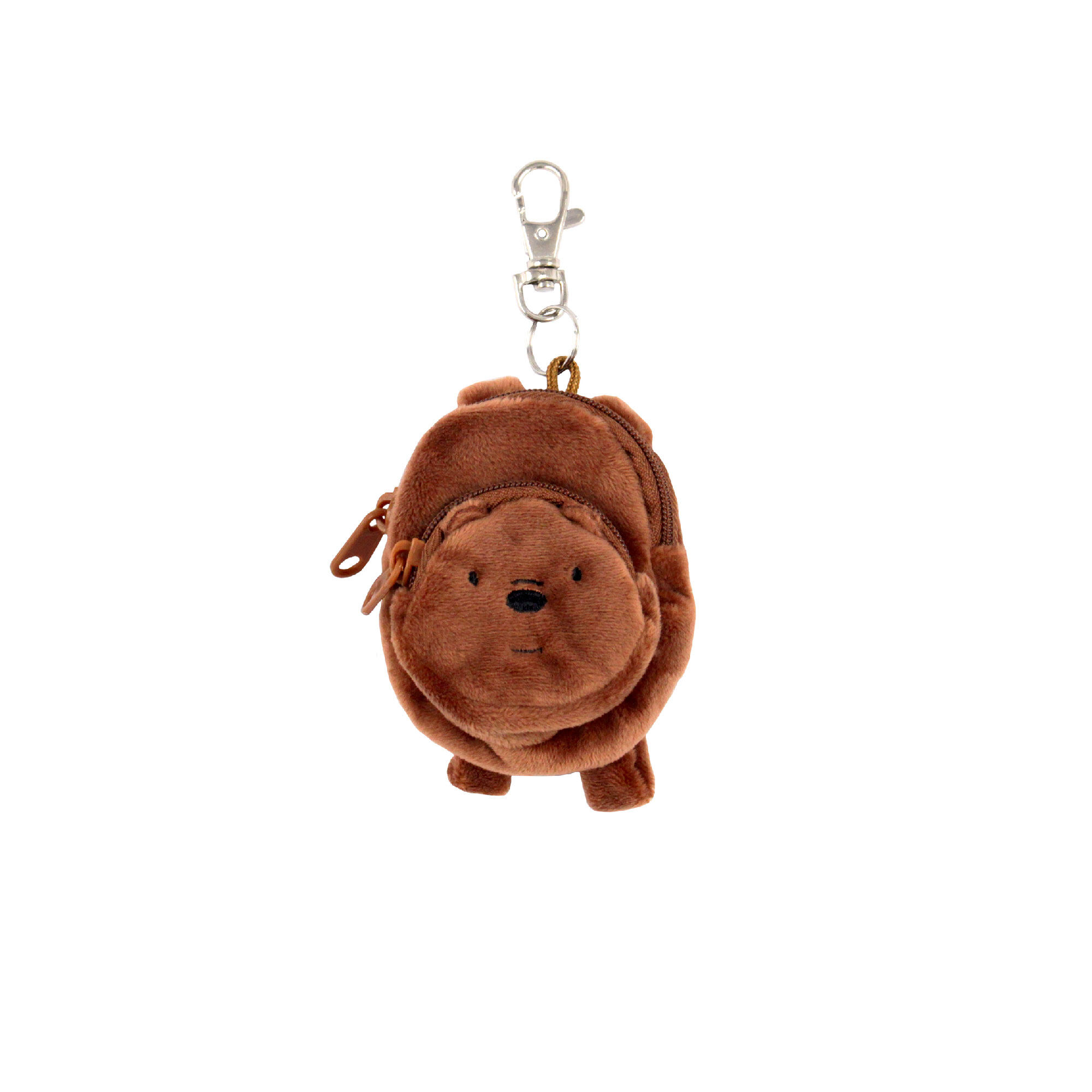 We Bare Bears Grizz Multipurpose Pouch Keychain -Brown Colour