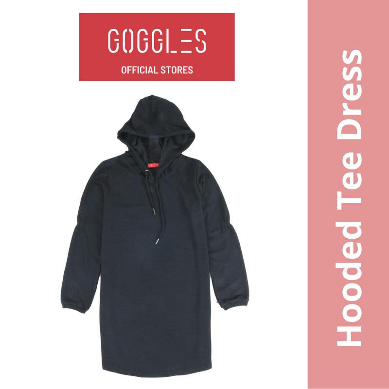 GOGGLES Ladies Long Sleeve Hoodie T Shirt Dress 120605
