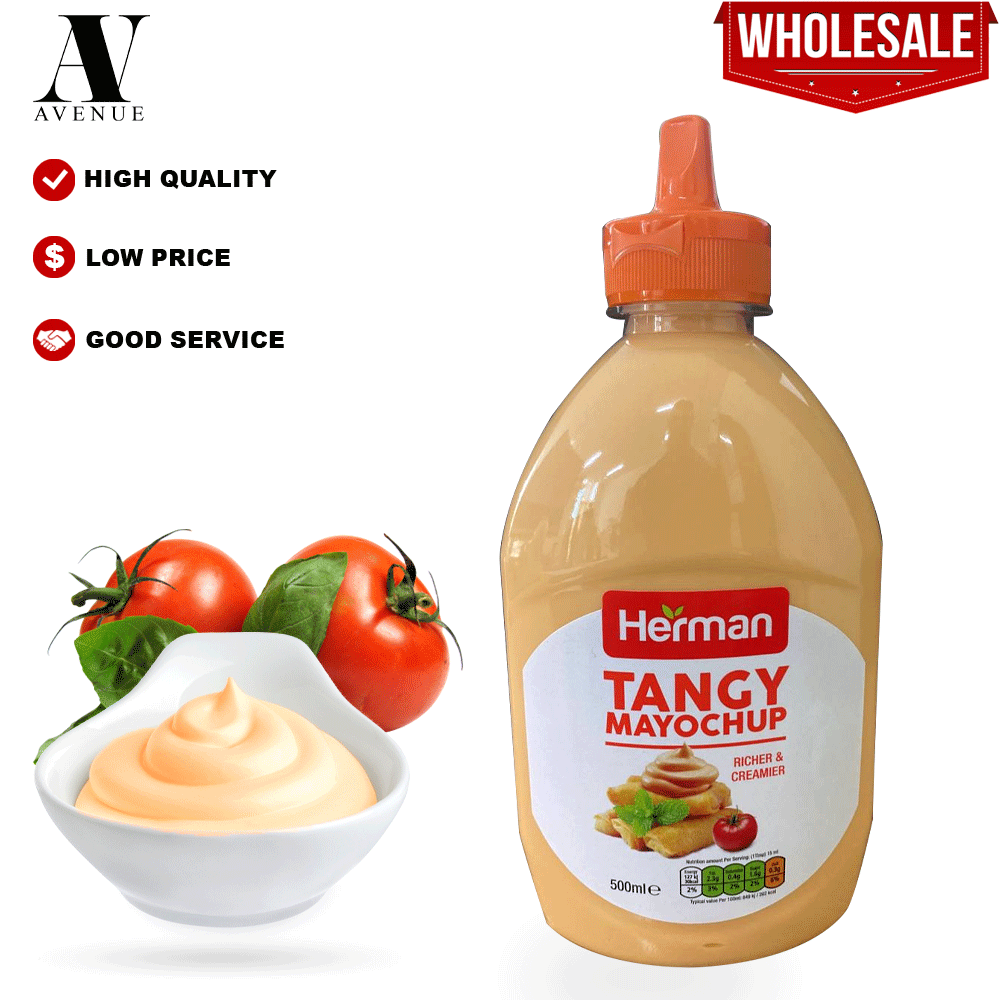Herman Tangy MayoChup Mayonnaise 500 Ml ( Richer & Creamier ) تانجي مايونيز بالكاتشب