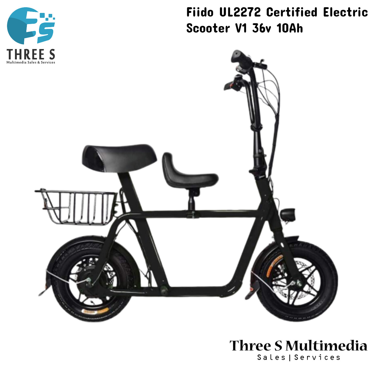 Fiido UL2272 Certified Electric Scooter V1 36v 10Ah