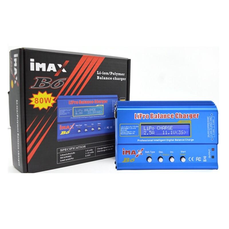 iMAX B6 80W LCD Screen Digital RC Li-on Lipo NiMh Li-ion Ni-Cd Battery Balance Charger Discharger - TYPE 3 / TYPE 1 / TYPE 2
