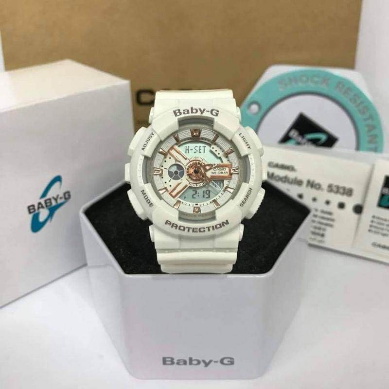 {SHOCKING SALE} New Sport BABY BA-110 Full Set Dual Time Display Resin Band Women\'s Watch New Fashion & Affordable Price