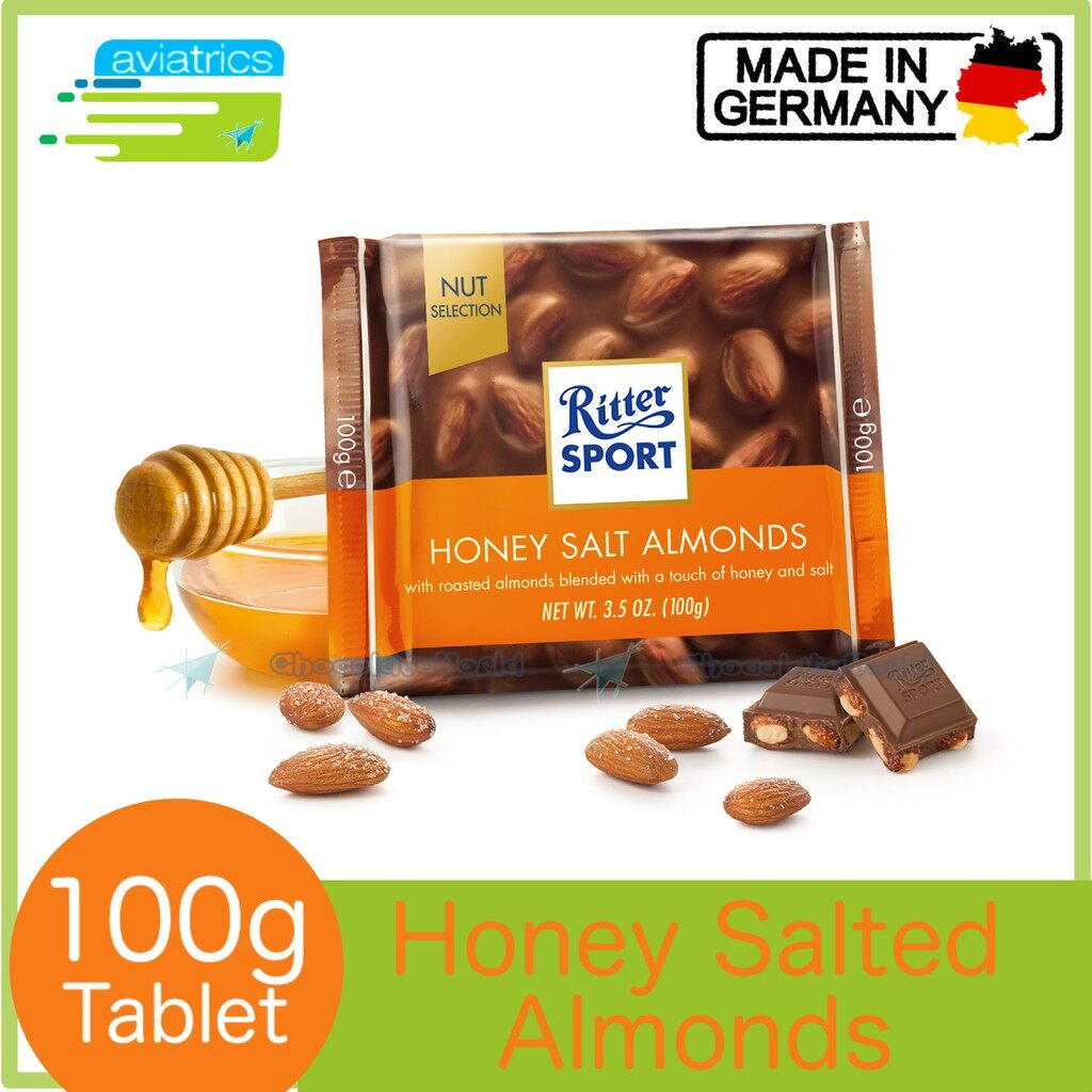 Ritter Sport Honey Salted Almond 100g (Made in Germany)