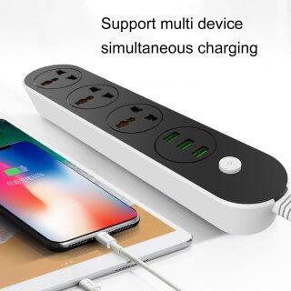 Ổ Cắm Điện USB Ổ Cắm Công Suất Cao Cho Ổ Cắm Điện Tại Nhà Văn Phòng Ổ Cắm Thông Dụng Với 3 Đầu Ra USB thumbnail