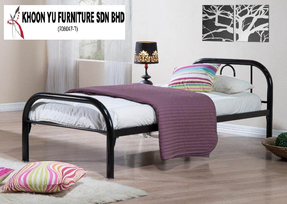 KHOON YU FURNITURE: STRONG DURABLE SINGLE FULL BED METAL BED FRAME FOR LOCAL & EXPORT TS SAFARI SINGLE BEDROOM FURNITURE