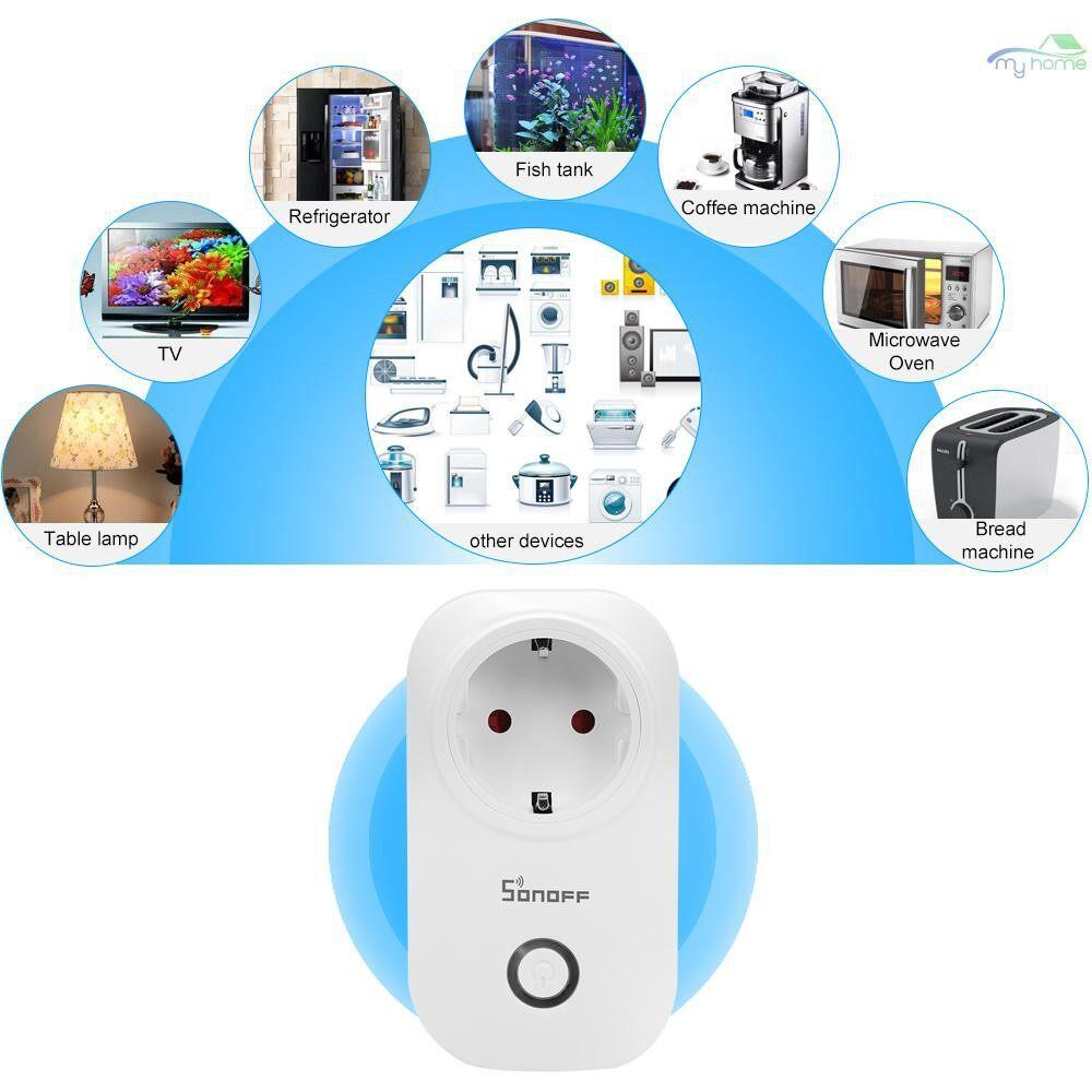Plugs & Adapters - S20 EU Type E ITEAD Wifi WIRELESS Remote Control Socket Charging Adapter Smart Home Power - E ITEAD / WHITE-UK / WHITE-EU