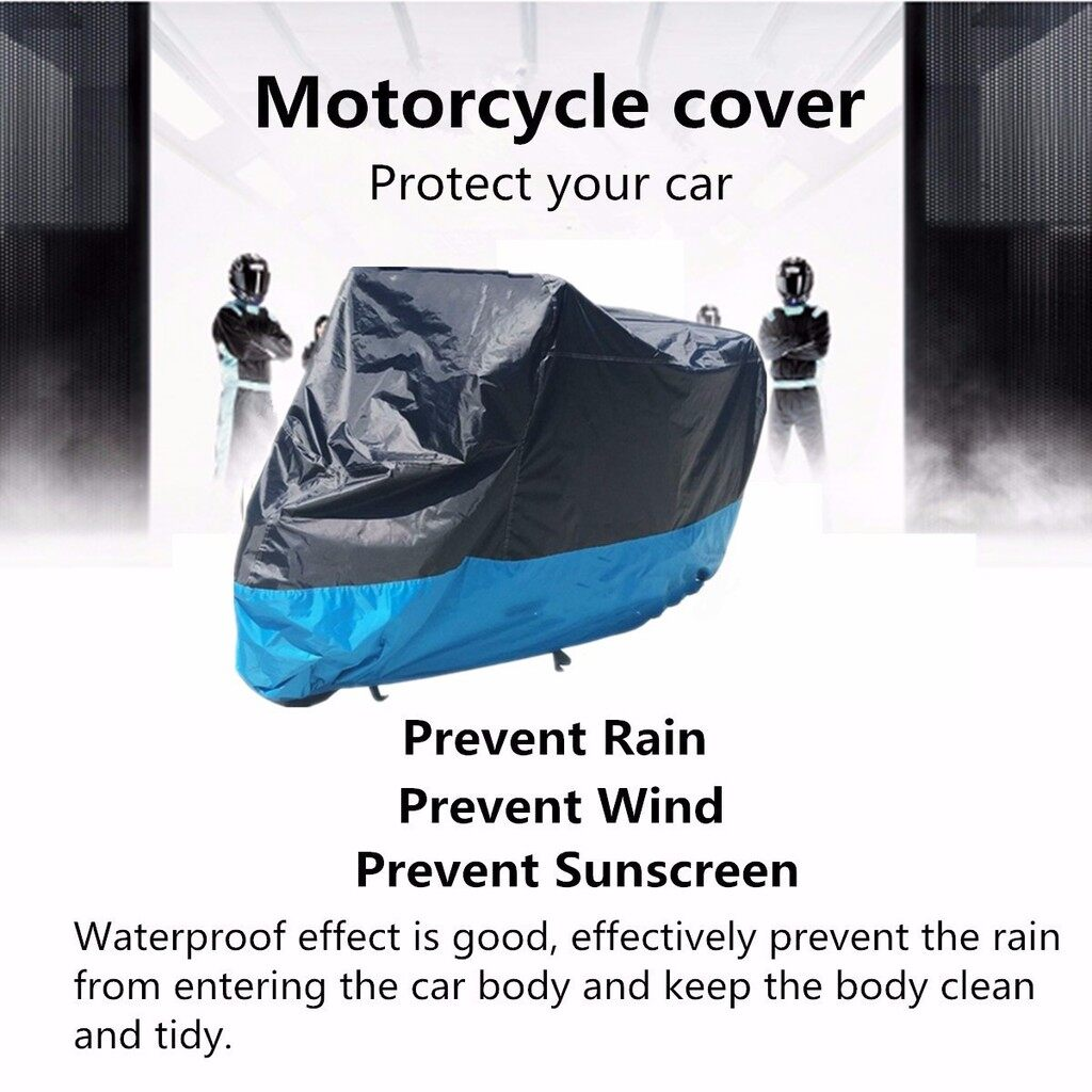Moto Accessories - Motorcycle waterproof cover_Ap - BLACK AND BLUE M / BLACK AND BLUE L / BLACK AND BLUE XL / BLACK AND BLUE 2XL