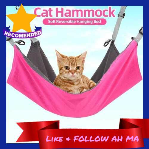 Best Selling Cat Hammock Soft Reversible Hanging Bed Waterproof Nylon Hammock Mat for Kitten Cats Pets (Red)
