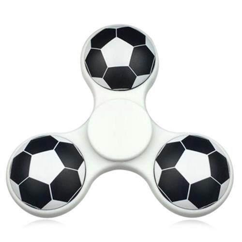 FIDDLE TOY SOCCER PATTERN FINGER GYRO FIDGET SPINNER (WHITE) Toys for boys