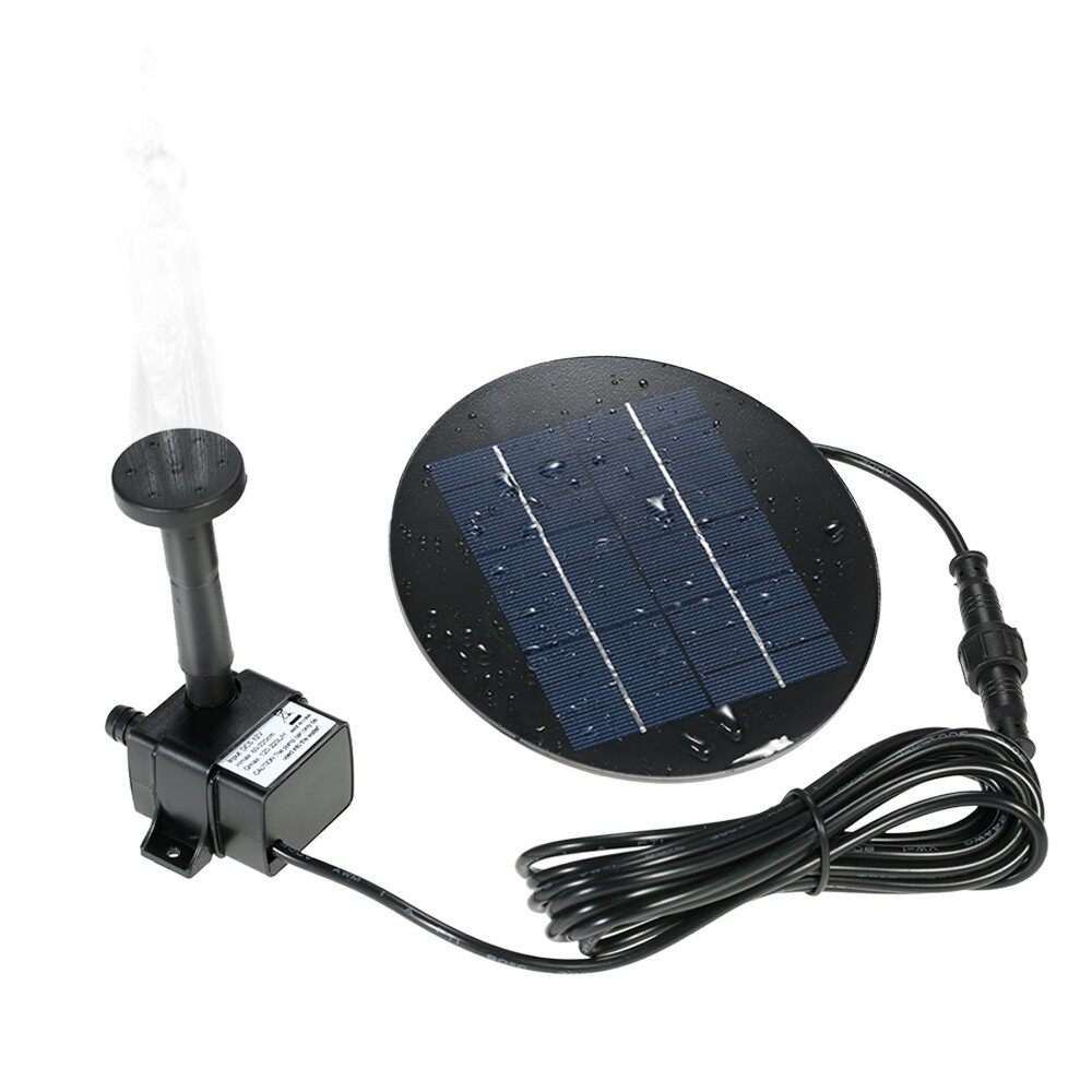 Outdoor & Garden - 9V 1.5W Solar Powered Fountain Submersible Brushless Water Pump Kit - 1.5W / 1.2W