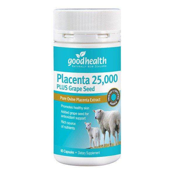 PLACENTA 25,000 PLUS GRAPE SEED Twin Pack