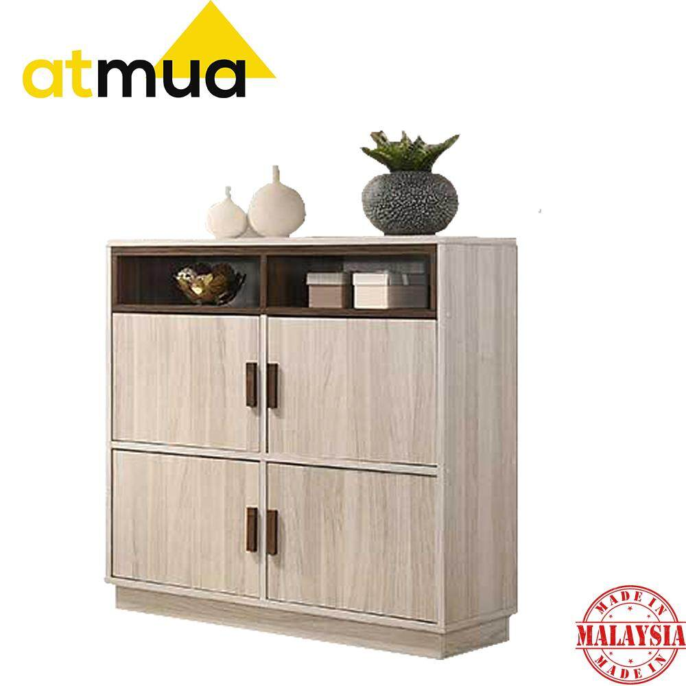 Atmua Tiso 4 Door Bookcase Book Shelf Book Cabinet Book Rack Storage Cabinet Home Office School 2019 New Product Modern Design High Quality