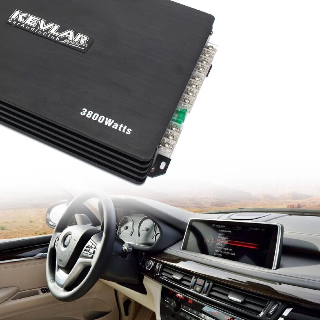 Vehicle Speakers & Subwoofers - 3800W 4 Channel Aluminum Alloy Car Audio Amplifier Power Stereo Speaker PowerVox - BUE / BLACK