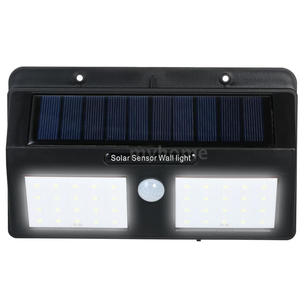 Outdoor Lighting - 6W 40LED Solar Powered PIR Motion Sensor Wall Light Outdoor IP65 Waterproof Energy Saving Security - #
