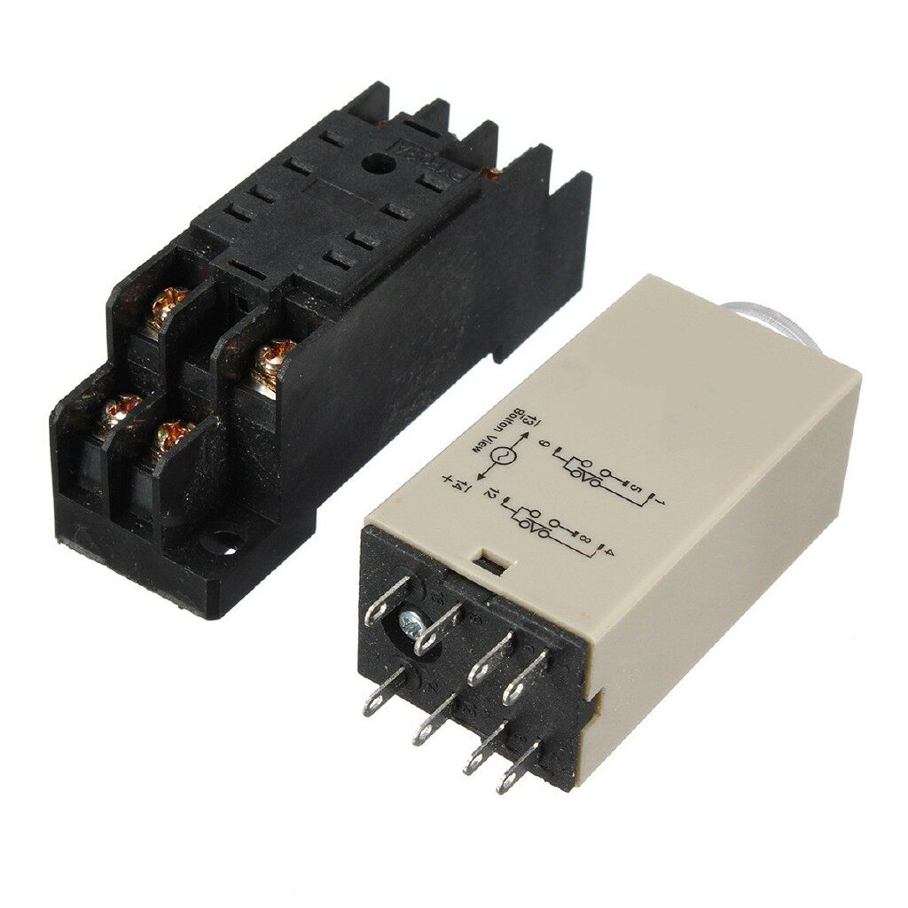 Gadgets - H3Y-2 Power On Time Delay Relay Solid-State DPDT Socket - Cool