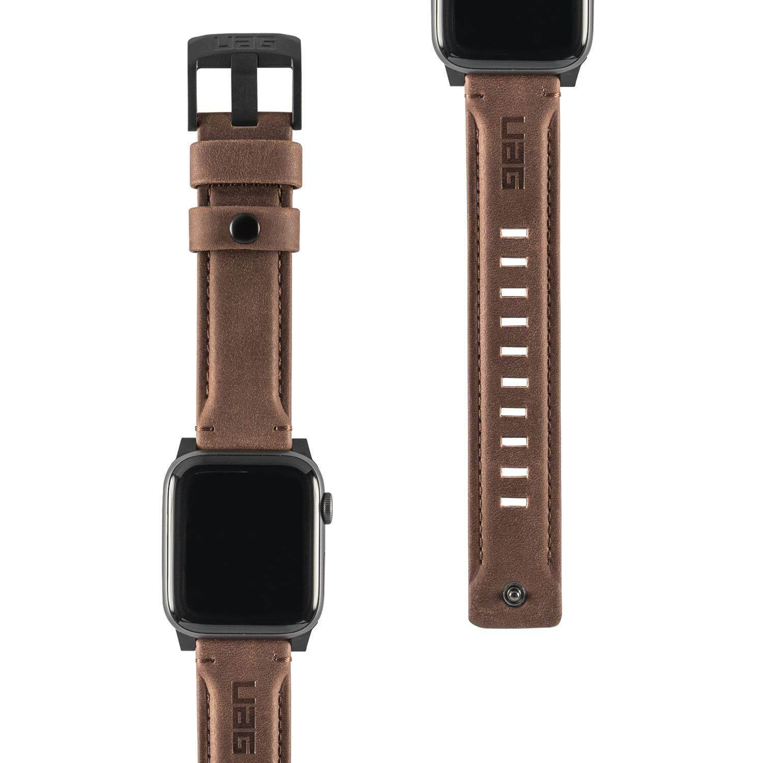 Original UAG Leather Strap for Apple Watch 40mm & 38mm, Series 4/3/2/1, Leather Brown