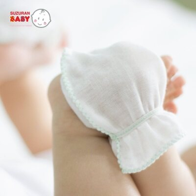 Suzuran Baby: Gauze Glove - 2 Pairs