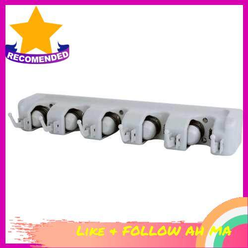 Best Selling Mop Holder With Hook Broom Holder Drilling Wall Mounted Broom Hanger Organizer Storage Rack Kitchen Bathroom Garden (Grey)